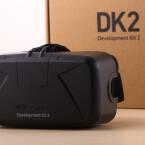 Das wichtigste Element der DK2-Verpackung: die generalüberholte, viel weniger nach Skibrille aussehende Oculus Rift-Brille. (Bild: netzwelt)