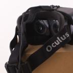 Der Blick in die Brille bleibt auch bei DK2 der gleiche: Erst in Betrieb werden sich die Unterschiede zum Vorgängermodell bemerkbar machen können. (Bild: netzwelt)