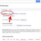 """Du gelangst auf die Abrechnungsseite von Google Voice. Hier siehst du noch einmal dein aktuelles Guthaben. Klicke darunter auf """"10,00 € Guthaben hinzufügen""""."""