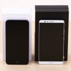 Das Huawei verfügt über ein 6 Zoll-Bildschirm, das neue iPhone 6 Plus über ein etwas kleineres 5,5 Zoll-Display