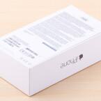 Die Rückseite der iPhone 6-Verpackung.