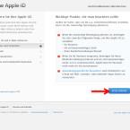 """Apple weist dich noch einmal auf die neuen Sicherheitsrichtlinien hin, die nach der Aktivierung der zweistufigen Bestätigung gelten. Wichtigster Punkt: Das Passwort kann durch Apple nicht mehr zurückgesetzt werden, wenn du dieses vergessen solltest. Nur du selbst kannst mit dem Wiederherstellungsschlüssel, den du offline aufbewahren musst, deinen Zugang freischalten. Klicke auf """"Erste Schritte"""", wenn du damit einverstanden bist."""