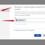 """Gib den Namen der Freunde ein, mit denen du die Datei teilen möchtest. Wenn der Kontakt in deinem Microsoft-Konto gespeichert ist, wird er gleich angezeigt. Andernfalls kannst du die E-Mail-Adressen manuell eingeben. Sobald du auf den Button """"Teilen"""" klickst, bekommen deine Kontakte ein E-Mail mit dem Link zu dem Dokument. Über den Link """"Empfänger können Elemente bearbeiten."""" nimmst du optional weitere Einstellungen vor."""