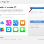 """Klicke auf den blauen Button """"Ihre Apple-ID verwalten"""", um dich mit deinen Zugangsdaten anzumelden."""