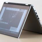 Auch der von der Lenovo Yoga-Reihe bekannte Zelt-Modus ist möglich.