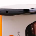 An der Oberseite des Moto G (2. Generation) können Nutzer Kopfhörer anschließen.