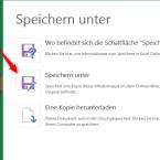 """Im Seitenmenü klickst du """"Speichern unter"""" an und wählst daneben ebenfalls """"Speichern unter"""" aus."""