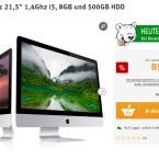 Bei arktis.de sparst du beim Kauf des Apple iMac 21,5 Zoll, 1,4 Gigaherzt i5, 8 Gigabyte Arbeitsspeicher und 500 Gigabyte Festplatte ganze 200 Euro.
