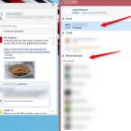 """Das Facebook-Konto ist in Trillian integriert. Klickst du oben auf """"Sozial"""", siehst du deinen Facebook-Account. Sobald du dort draufklickst, bekommst du die aktuellen Neuigkeiten angezeigt. Unten unter """"Meine Kontakte"""" und """"Facebook"""" siehst du deine Facebook-Freunde, die online sind. Über Trillian chattest du mit ihnen, ohne Facebook im Browser nutzen zu müssen."""