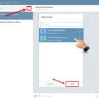 """Um einen Gruppenchat zu starten, klickst du auf das Symbol neben dem Suchfeld. Im neu geöffneten Fenster wählst du die Teilnehmer aus. Die Kontakte markierst du, indem du sie anklickst. Sie erhalten dann ein Häkchen. Fahre mit einem Klick auf """"Next"""" fort."""