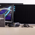 Neben der großen Bildschirmdiagonale sind eingebauter Beamer und Subwoofer weitere Besonderheiten.