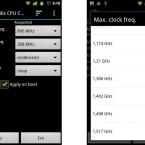 Mit der kostenlosen App No-frills CPU Control könnt ihr die taktfrequenz eures Prozessors konfigurieren.