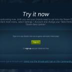 Derzeit wird Steam Broadcasting in der Beta getestet. Ihr könnt ihr die neuen Funktionen jederzeit selber ausprobieren. (Quelle: Screenshot / Valve)