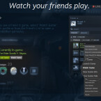 """Wenn ihr einen Freund ein Spiel spielen seht, das euch interessiert, könnt ihr einfach per Rechtsklick und der Auswahl """"Watch Game"""" im Drop-Down-Menü zuschauen... (Quelle: Screenshot / Valve)"""