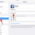 """Auf einem iPhone oder iPad öffnest du dazu die Einstellungen-App und tippst auf """"Facebook"""". Tippe dann auf deinen Namen."""
