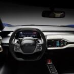 ...geht es futuristisch zu. Das Layout der Anzeigen lässt sich laut Ford frei gestalten.