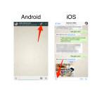 Gehe dann in WhatsApp und tippe unter Android oben rechts auf die Büroklammer. Auf dem iPhone tippst du das Icon mit dem Pfeil links neben dem Eingabefeld für den Text an.