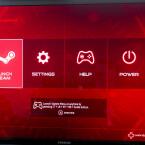 Nach dem Start landen Spieler direkt in einem angepassten Startmenü. Von Windows 8.1 sieht man nur kurz den Anmeldebildschirm mit bereits angelegtem Benutzer. Die Alpha bootet bis zum Menü durch. (Quelle: netzwelt)
