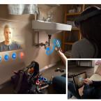 Papa hilft via Skype bei der Reparatur des Waschbeckens - die HoloLens macht es möglich. (Bild: Microsoft)