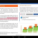 Die Benutzeroberfläche von Microsoft Word für Tablets.
