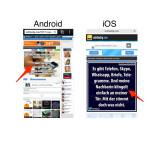 Öffne die Webseite mit dem Bild, welches du über WhatsApp oder einen anderen Messenger versenden möchtest. Tippe mit dem Finger so lange auf das Bild, bis ein Menü mit weiteren Optionen erscheint.