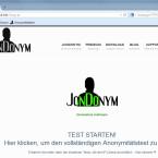 """Rufe die Webseite """"ip-check.info"""" auf, und du siehst bereits jetzt, dass JonDoNYM komplett eingerichtet ist. Klicke auf """"Test starten"""", um dir im Vergleich deine Informationen anzeigen zu lassen, die an den Server übermittelt werden."""
