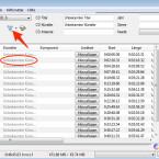 """Nachdem ihr die CD eingelegt habt, zeigt die Freeware die enthaltenen Titel im Hauptfenster an. An dieser Stelle fehlen noch die Metadaten, welche den Namen des jeweiligen Titels, den Interpreten (Künstler) oder das Genre anzeigen. Um diese Daten abzurufen, klickt auf den """"freedb-Button"""" unterhalb der Auswahl des Laufwerks. Voraussetzung dafür ist, dass ihr das freedb-Metadaten-Plug-in eingerichtet habt."""