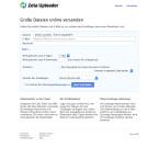 Dateien mit einer Größe von maximal 500 Megabyte dürfen bei Zeta Uploader hochgeladen werden. Auf Wunsch könnt ihr den Download-Link gleich per E-Mail versenden und die Speicherdauer (maximal vier Tage) festlegen. Auch ein Kennwortschutz für den Download ist möglich. Außerdem kann die Datei automatisch nach einer bestimmten Anzahl von Downloads gelöscht werden.