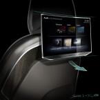 Auf den Rücksitzen finden sich verbesserte Tablets, die in einer ähnlichen Form auch im neuen Q7 zu finden sind.
