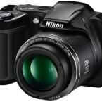 Das günstige Modell ist die L340. Die Bridgekamera besitzt ein 28-Fach-Zoomobjektiv und einen 20-Megapixel-CCD-Sensor.