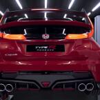 Honda wird auf dem Autosalon in Genf den Civic Type R zeigen. Zu sehen ist ein Screenshot eines von Honda veröffentlichten Youtube-Videos.