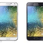 Die Mittelklassen-Smartphones E5 (links) und E7 (rechts).