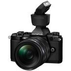 Die Systemkamera besitzt keinen eingebauten Blitz. Der Hersteller liefert den FL-LM3 kostenlos mit.