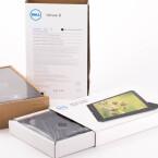 Das Dell Venue 8 der 7000 Series kommt in einem kompakten Karton ins Haus.