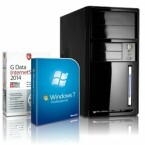 16:30 Uhr:Multimedia PC shinobee, Quad-Core, Windows7 Professional, INTEL Quad Core 4x2.41  GHz, 4 GB RAM, 320 GB HDD, Intel HD Graphics, HDMI, VGA, DVD±RW, Office, USB 3.0. Niedrigster Preis im Internet: 229,00 Euro.
