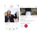 Tinder zeigt euch auf dem Hauptbildschirm der App das Profilbild der Person, die zu euren angegebenen Kriterien (Alter, Geschlecht, Entfernung) passt. Mit einem Klick auf das Profilbild ruft ihr weitere Fotos und die Kurzbeschreibung sowie übereinstimmende Interessen auf.