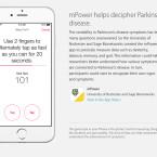 Anhand verschiedener Tests sollen Parkinson-Patienten in der App mPower besser betreut werden.