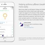 Apps, die mit ResearchKit zusammenarbeiten, gibt es bereits. Eine davon ist Asthma Health.
