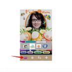 """Um das Bild abzuspeichern beziehungsweise zu versenden, müsst ihr wieder auf den Punkt """"Frame"""" in der Menüleiste wechseln. Dort findet ihr dann den Button """"Share"""". Ihr könnt euer Osterbild in der Galerie speichern, via Twitter oder Facebook teilen oder per E-Mail versenden."""