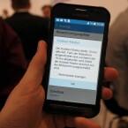 Das Galaxy Xcover 3 besitzt einen speziellen Outdoor-Modus für den Bildschirm.