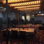 Der Konferenzraum ist The Verge zufolge nur temporär mit Bällen ausgestattet.