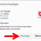 Nun könnt ihr die Webanwendung zu Google Chrome hinzufügen. Wählt den entsprechenden Link aus