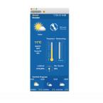 Die aktuelle Wetterlage vor der Tür zeigt euch WeatherPro für Mac übersichtlich an.