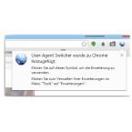 Nach erfolgreicher Installation erhaltet ihr eine Bestätigung, und ein neues Icon wird rechts neben der Adresszeile des Browsers eingeblendet.