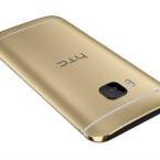 Die Antennenstreifen sind beim goldenen HTC-Smartphone dagegen weiterhin weiß.