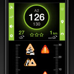 Die Anwendung warnt auch vor hohem Verkehrsaufkommen auf den nächsten Kilometern eurer Strecke.