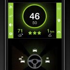 Im Stadtmodus zeigt die App die prognostizierte Entwicklung des Verkehrs und die Verkehrsdichte in mehrere Richtungen an.