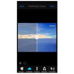 Über das Wolkensymbol hellt ihr euer Bild auf. Die Echtzeitanzeige zeigt euch die vorgenommene Veränderung sofort auf dem Bildschirm eures Smartphones an.