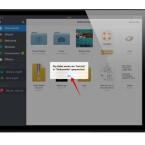 Anschließend wird die Office-App Documents geöffnet, und ihr bekommt auf dem Bildschirm eine Bestätigung, dass die ZIP-Datei gespeichert wurde.