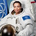 Astronauten könnten mit der neuen Flagge ausgestattet werden.